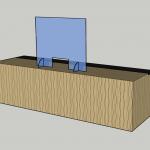 pass-through countertop barrier