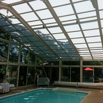 Pool Enclosure w/Polycarbonate Base and Cap System